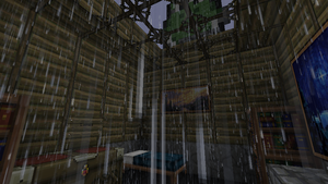 Minecraft Beta 1.5 - Rain in my house by McTaylis