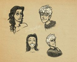 Cupid and Jack Sketches by dewdrop34
