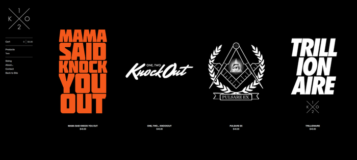 a screenshot of the K.O. Clothing online store.... by thaBEAST