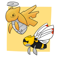 Shedinja and Ninjask  by Lexi247