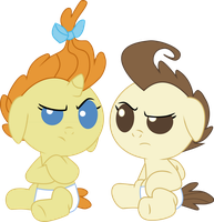 Baby Cakes Not Amused Vector by ownageownz