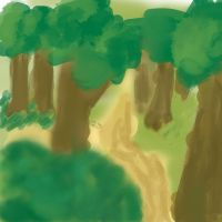 Speed Paint 002 Forest. Help me get better by ParjanyaVictor