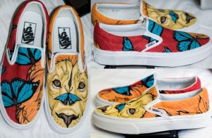 Hand Painted Lion Shoes by Erobern