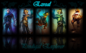 Ezreal background by K4tEe