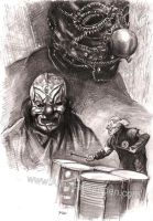 Shawn Crahan slipknot by Alleycatsgarden