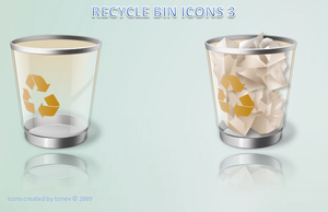 brown recycle bin by tonev