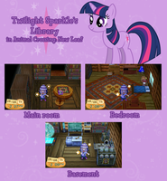 Twilight Sparkle's library in ACNL by kwark85