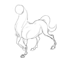 animation - horse walk by analepsis