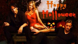 True Blood Halloween Signature: Bill, Sookie, Eric by riogirl9909