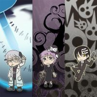 Soul Eater Bookmarks by oneoftwo