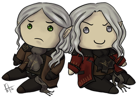 Commission bonus - Chrys and Mephys by roryseviltwin