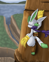 Green Glaceon with Gold Claw by vavacung