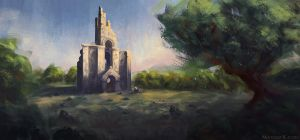 Ruined temple by Narholt