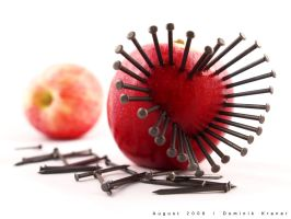 nailed apple by dkraner