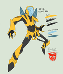 Ref. Sheet: Unnamed Autobot by PrimeFighterQue
