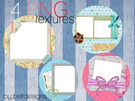 4 Cute Textures by bettdesigns