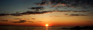 Panoramic Sunset by Cussypat