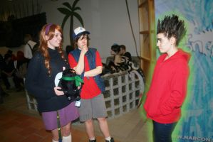 Gravity falls and Paranorman cosplay by Lomise