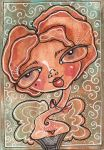 Butterscotch ATC by EraserQueenStudio