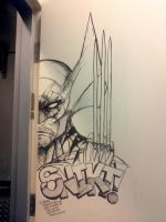 Wolverine Door art at the N9ne in Vegas by jamietyndall