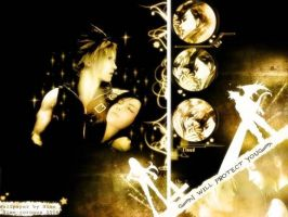wallpaper of tifa and cloud by finaldreams7