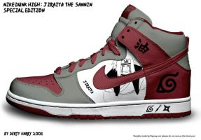 Nike Dunk High: Jiraiya The Sa by DertyHarry