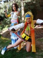 FFX-2 RIkku Yuna Cosplay by TotallyToastyAri