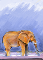 (Jan '13) Elephant by Phinnimonster