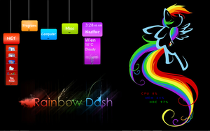 Rainbow Dream Desktop by Xris777