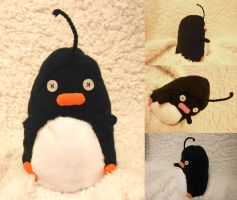 Penguin Plushie by kidbrainer