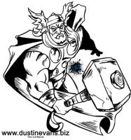 Thor black and white by DustinEvans
