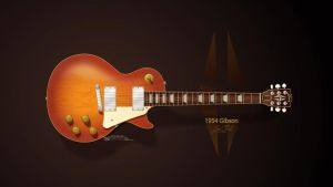1954 Gibson Les Paul Wallpaper by GovectorZ