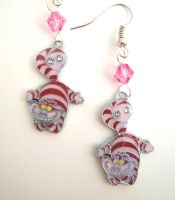 Cheshire Cat Alice In Wonderland Crystal Earrings by GeekStarCostuming