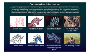 Commission Pricing by MukArt