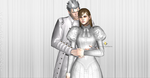 Vergil and his nice wife,Agrippina by WhiteKnightDante