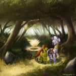 Commission: Forest X Zecora by Eosphorite