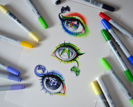 Gaming Eyes by Lighane