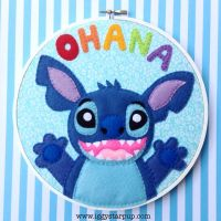 Stitch Ohana Embroidery by iggystarpup