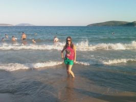 I'm in the Greek sea by Klaudia333
