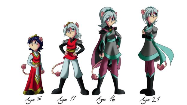 Junia Age Progression by CessieRose25
