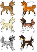 Adoptables -CLOSED- by InkSheWolf
