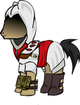 Assassin Pony Armor Concept by FieryBlade96