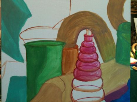 Oil Paint still life 5- more color by DeganaBalkar
