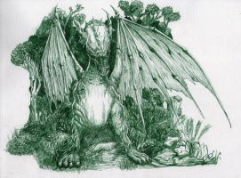 Dragon Verde by DGlapizpincelplumin