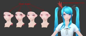 Hatsune Miku: Morph Explanation by HazardousArts