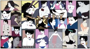 Patrick Nagel wallpaper by youryaleness