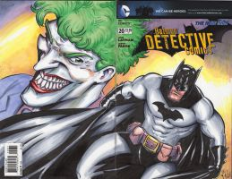 Detective Comics Batman Joker Sketch Cover by ChrisMcJunkin