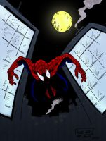 Spidey Jumping Of A Building by pascal-verhoef