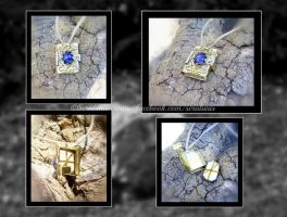 'Tiny spellbook' necklace SOLD by seralune