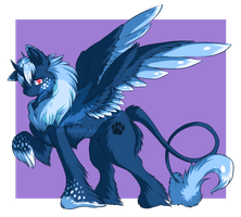 Pony money auction: winter lion species CLOSED by Nymfadoptables